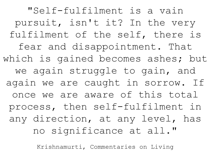 self-fulfilment